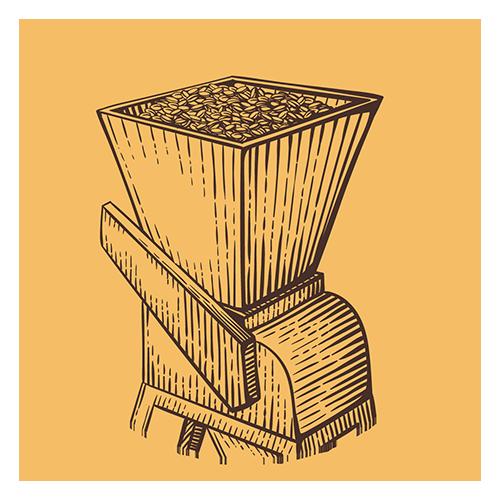 malto in grani per produzione della birra